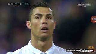 The three goals of real vs atletico
