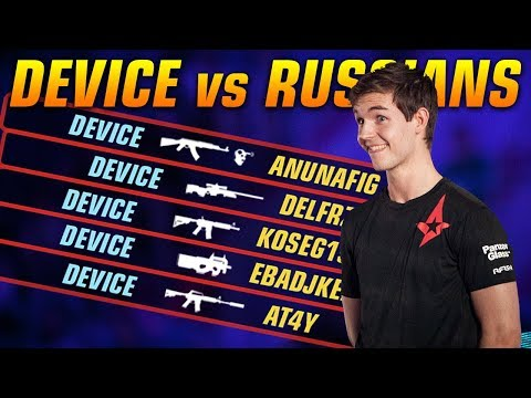 CSGO - DEV1CE vs RUSSIANS - 39 KILLS (ENEMY TEAMSPEAK)
