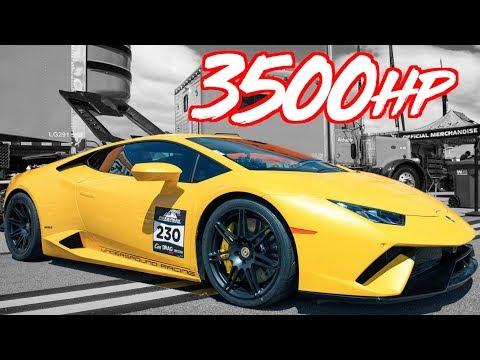 3500HP Lamborghini POV + Audi R8 250MPH 1/2 Mile World Record (Explodes Rear Glass at 220mph!)