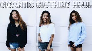 GIGANTIC CLOTHING HAUL // BRANDY MELVILLE, THRIFT, FOREVER21 AND MORE