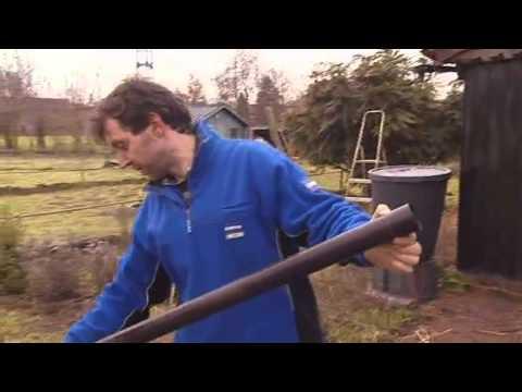 Installation d 39 une citerne eau de pluie vid o bricolage gamma belgi - Citerne eau de pluie enterree ...