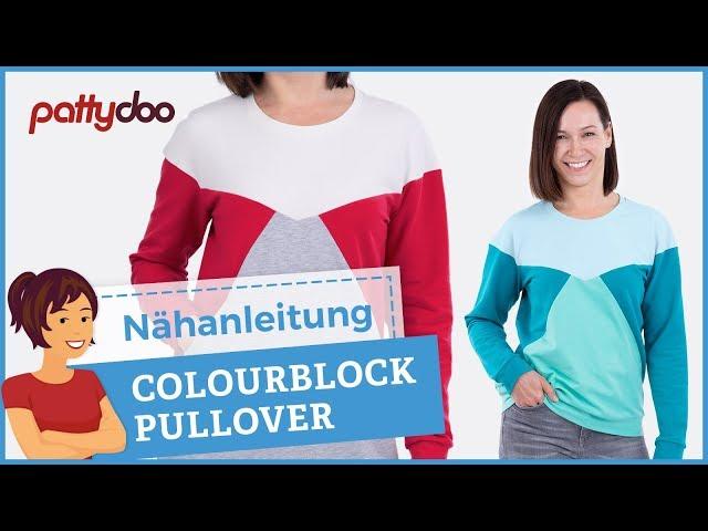Anleitung Pullover/ Sweatshirt mit Colourblocking nähen