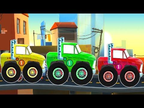 Мультик игра - Машинка с большими колесами ВСЕ СЕРИИ 5 ЧАСОВ. Мультфильм про машины и автосервис