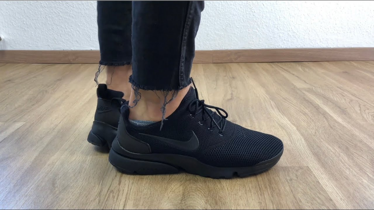 wyprzedaż resztek magazynowych wielka wyprzedaż uk tanie jak barszcz Nike Presto Fly 'All Black' | UNBOXING & ON FEET | fashion shoes | 2018