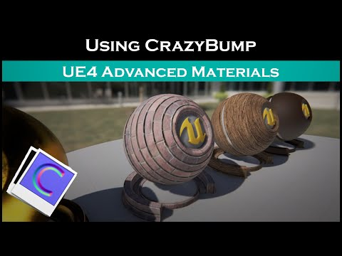 Ue4: advanced materials (Ep.1 Using CrazyBump)