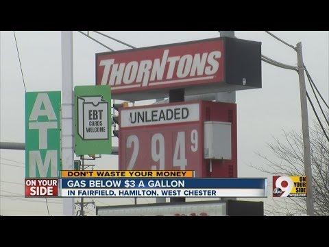 Gas prices drop under $3