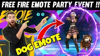 FREE FIRE NEW EMOTE PARTY EVENT DETAILS || FREE FIRE EMOTE PARTY EVENT DETAIL, FREE FIRE NEW EVENT