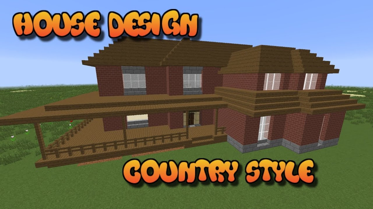 minecraft house ideas country style house part 1   youtube