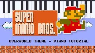Super Mario Overworld Theme - Simplified Piano Tutorial - Hoffman Academy