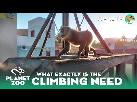 The Climbing Need Explained - Planet Zoo Climbing Frame Build - Mandrill Habitat