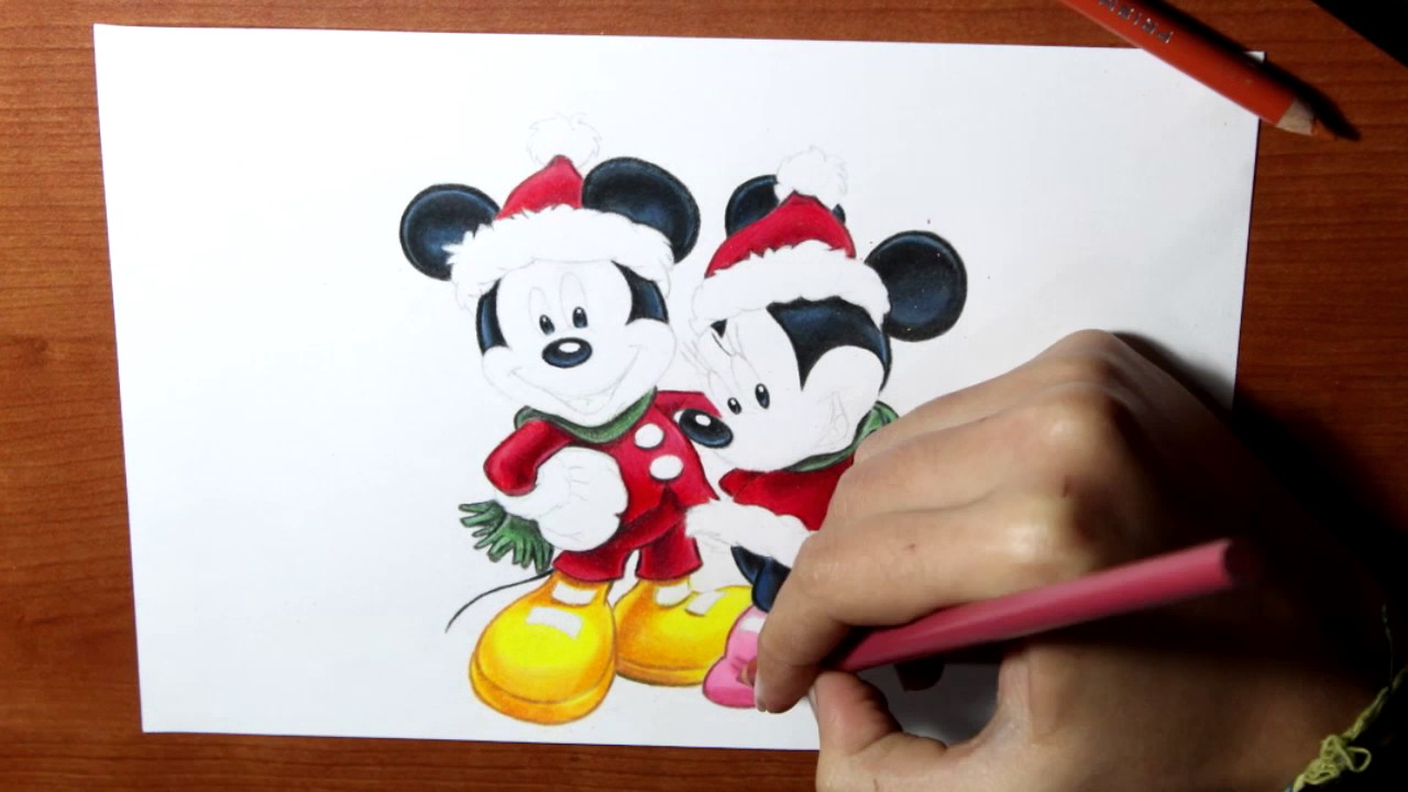 Uncategorized Minnie And Mickey Mouse Drawing drawing mickey mouse and minnie how to draw special christmas speed mp4