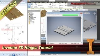 Inventor 3D Hinges Tutorial Practice 5