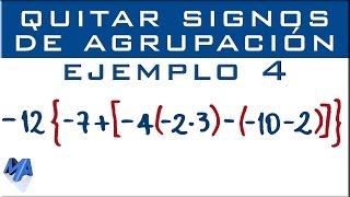 Eliminar signos de agrupación | Ejemplo 4 | Suma, resta y multiplicación thumbnail