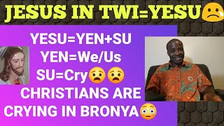 the true meaning of the name jesus in twi yesu explained😀😀 evangelist addai