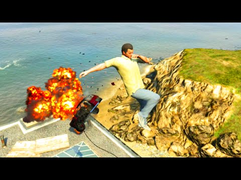 GTA V Unbelievable Crashes/Falls - Episode 14