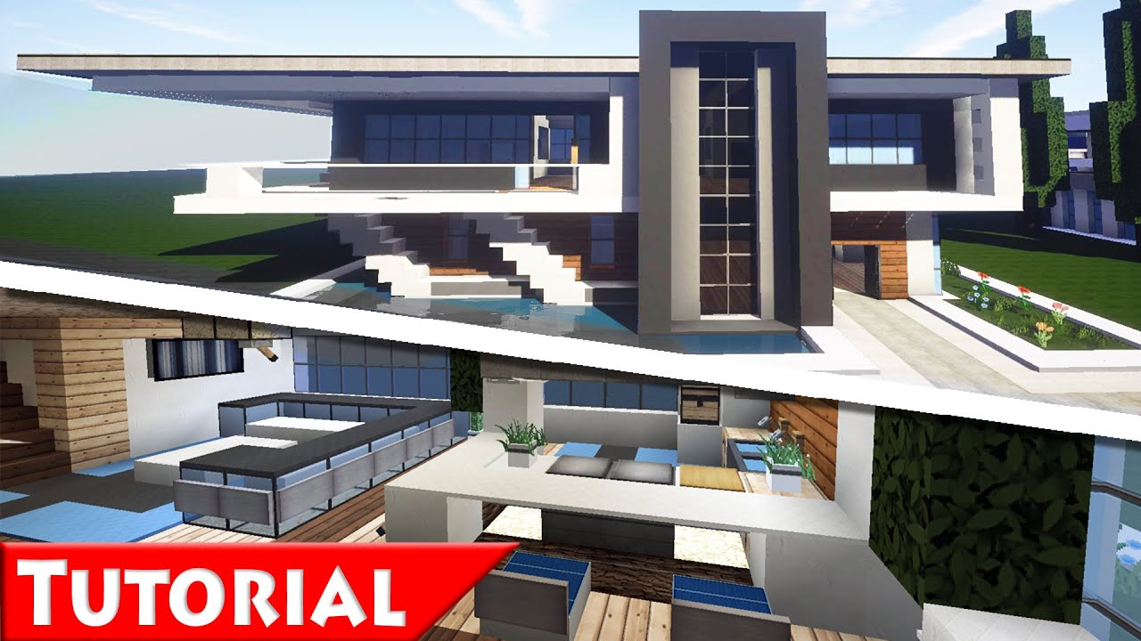Minecraft modern house interior ideas for Modern house 8 part 6