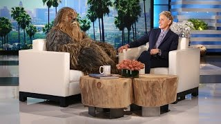 Chewbacca and Surprise Guest from a Galaxy Far, Far Away
