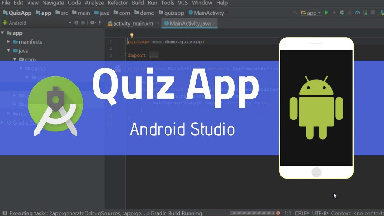 How To Create Quiz App In Android Studio | Android Application Development  Tutorials For Beginners
