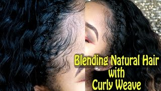 Blending Natural Hair with Curly Weave ft. Bloomy Brazilian Deep Wave Hair   PETITE-SUE DIVINITII
