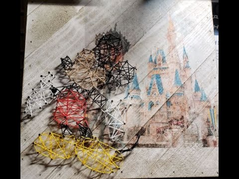 How To Create A Photo Transfer Wall Board And String Art.  Disney Inspired