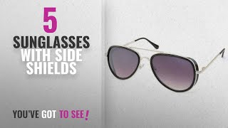 Top 10 Sunglasses With Side Shields [2018]: Stacle Fashion Inspired Side Shield Pilot Sunglasses