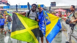 World Cup Diary Of Brazil - Bosnia & Herzegovina Fans Make Noise In Brazil