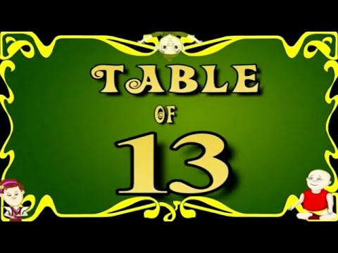 Learn multiplication table of thirteen 13 x 1 13 13 for 13 table multiplication