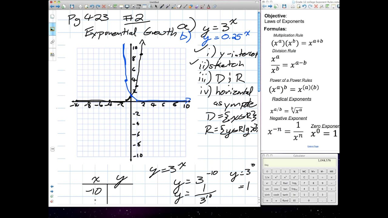 Exponents Radicals Exponential Growth Grade 11 Mixed Chapter 7 Review 01 10 12