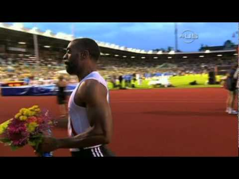 Tyson Gay beats Powell, misses diamond, from Universal Sport