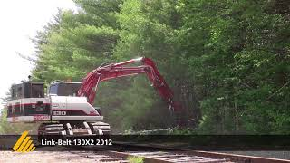 Link-Belt 130X2 + Powerpack with a DAH-150E - DENIS CIMAF - Forestry mulching system
