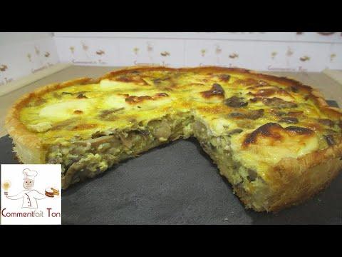 """tarte-""""quiche""""-aux-champignons,oignons-et-fromage-frais-par-commentfait-ton"""