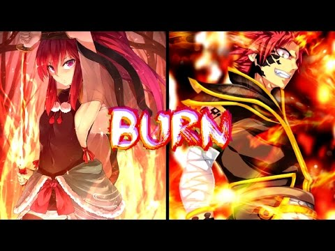Nightcore - Burn (Rock Version)    Switching Vocals    Lyrics