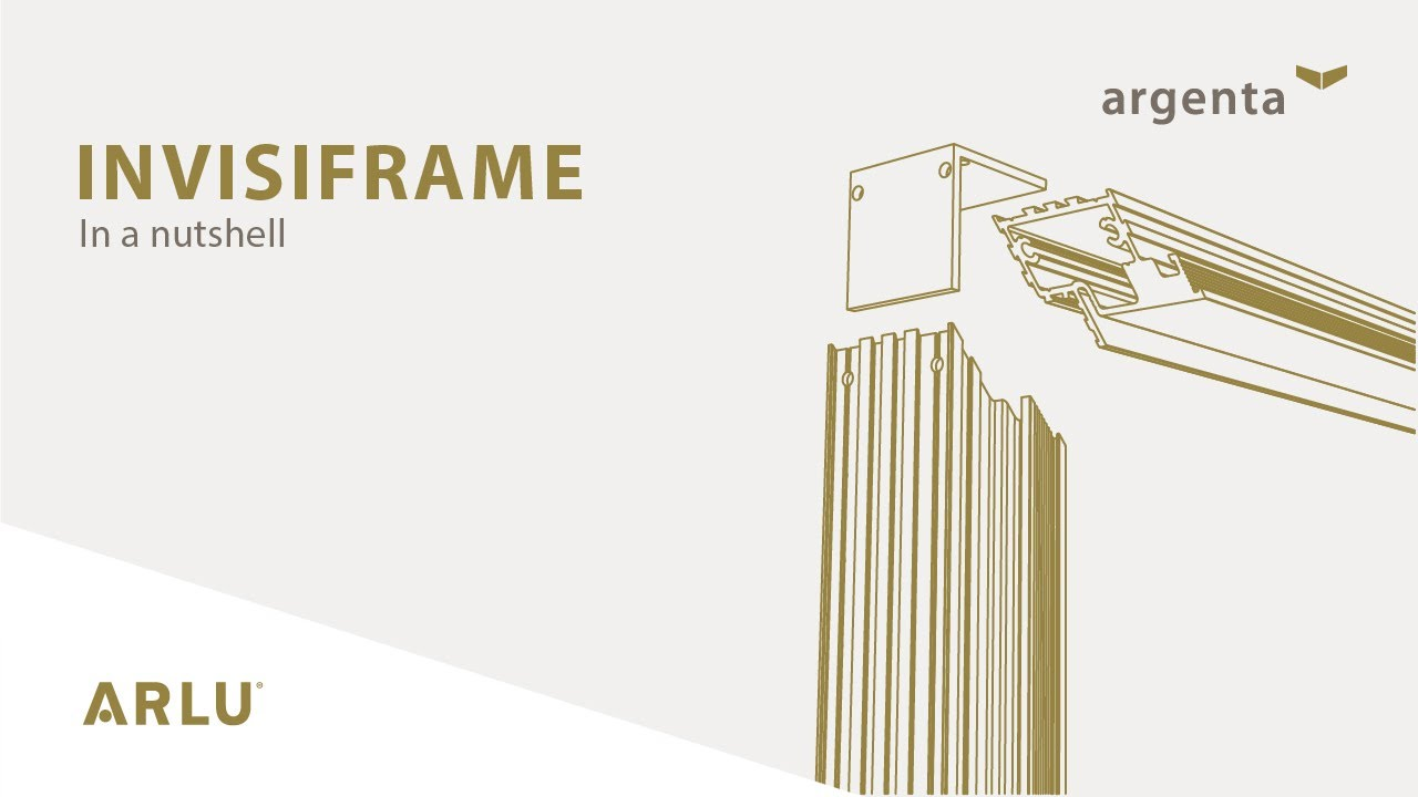 new style 6f121 5252d argenta invisiframe - Invisible aluminium frame for interior doors