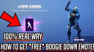 "How to get the *FREE* ""Boogie Down"" Emote/Dance in Fortnite: Battle Royale 100% REAL WAY Fast & Easy"