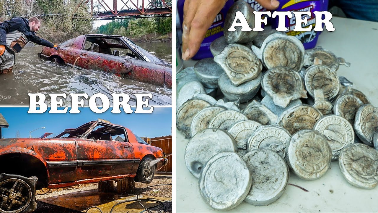 Melting Down an RX7 Car and Casting into Pirate Booty Coins