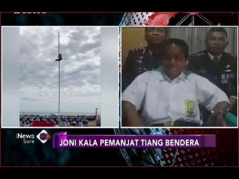 Image of Cerita Joni, Bocah SMP yang Panjat Tiang Demi Kibarkan Bendera Merah Putih - iNews Sore 17/08