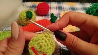 Вязание игрушек.Овощи и фрукты крючком.Амигуруми