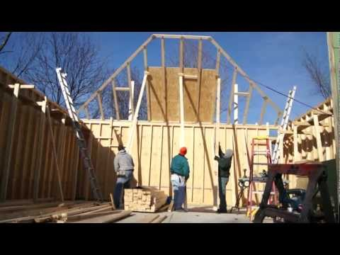how to put up roof trusses