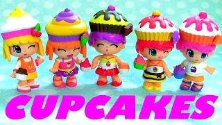 Pinypon Cupcake Cuties 5 Dolls Set Play Doh Famosa Mix and Match Tattoos - Pin y Pon Magdalenas