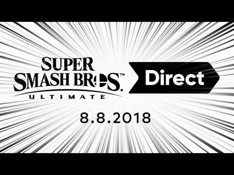 FULL SUPER SMASH BROS ULTIMATE DIRECT [8/8/2018] - LIVE REACTION | runJDrun thumbnail