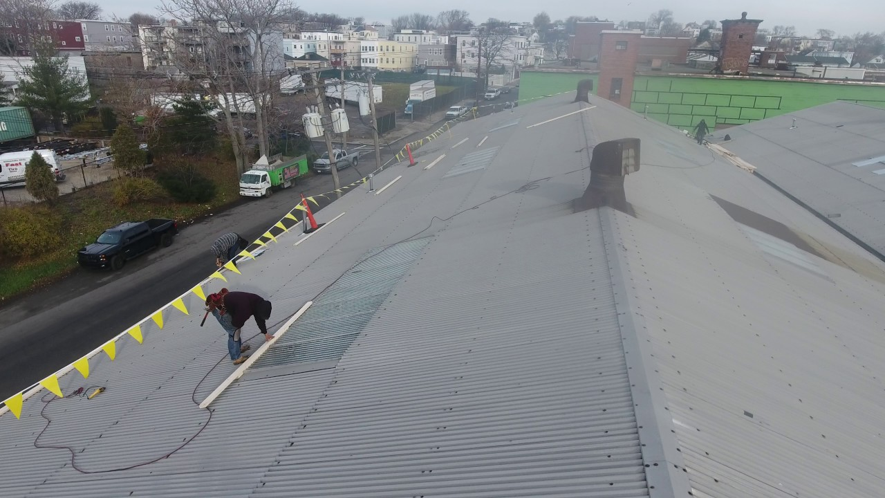 Installing Epdm Rubber Membrane 0 60 Roof System Over