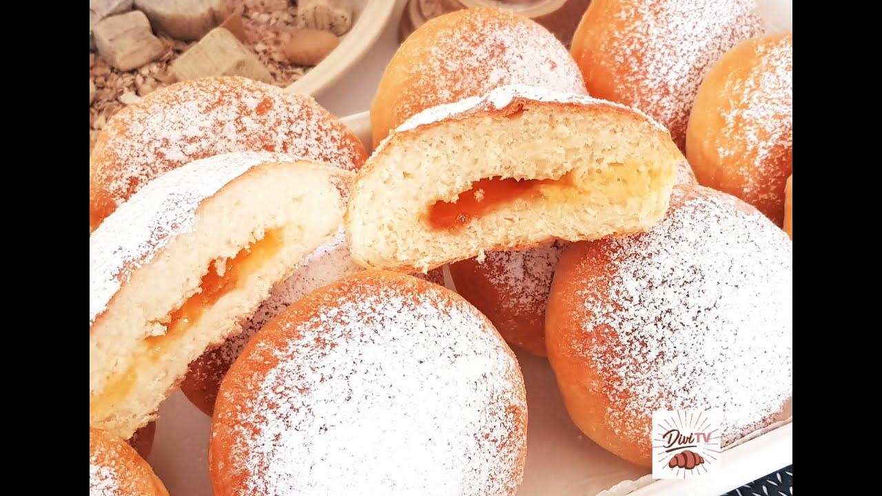 Backofen - Krapfen ohne kneten / No knead Oven - Donuts