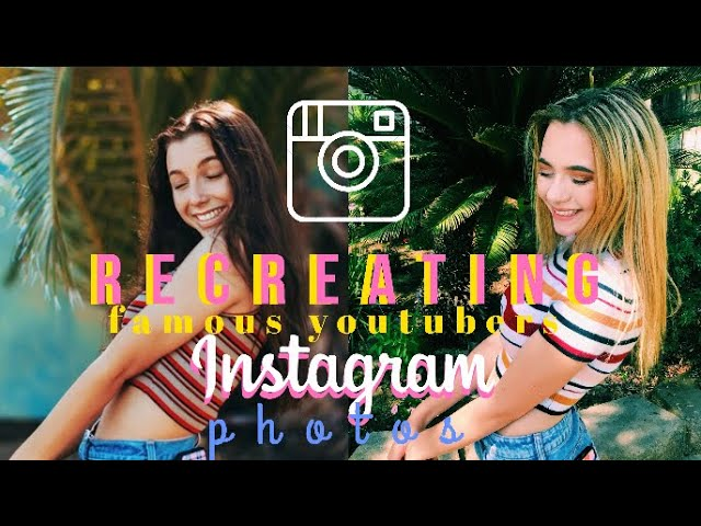 RECREATING FAMOUS YOUTUBERS INSTAGRAM PICTURES | the dolan twins, emma chamberlain, & more!