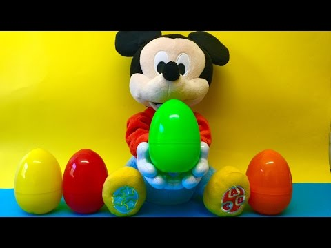 Thumbnail: Funny Mickey Mouse throw Surprise Eggs