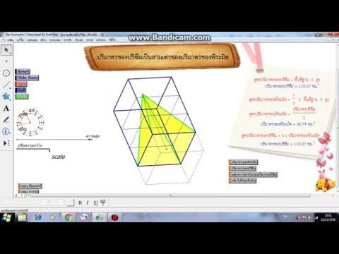 การสร้างสื่อการสอนโดยใช้ GSP NRRU