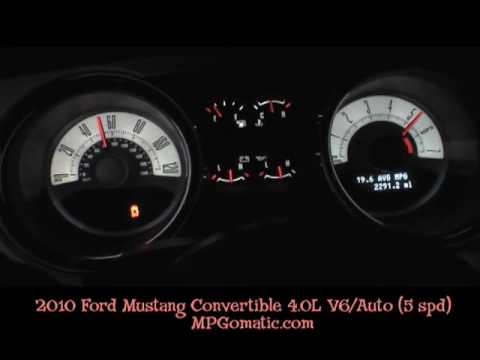 2010 Ford Mustang 4 0l V6 0 60 Mph Youtube