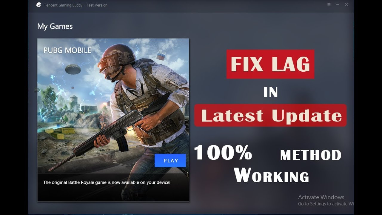 Fix Lag in Tencent Gaming Buddy for Low End PC (New Update)