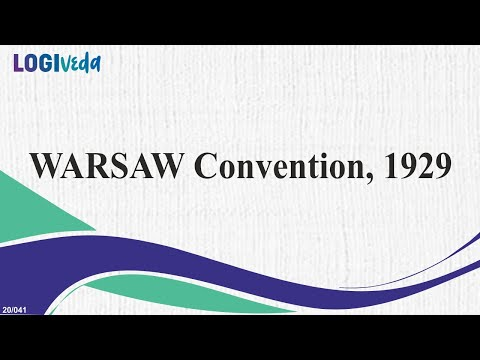 The WARSAW Convention, 1929