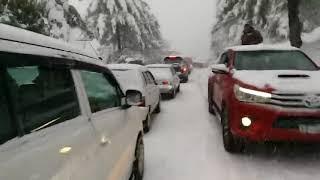 Snow Falling at Bhurban Murree Hills Pakistan # 3