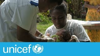 Baby joy has become the first person to receive a vaccination delivered by commercial drone in vanuatu. subscribe unicef here: http://bit.ly/1ltte3m the...